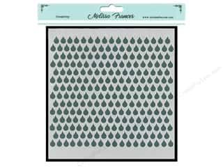 craft & hobbies: Melissa Frances Stencil 6 x 6 in. Rain Drops