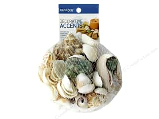 candle color: Panacea Decorative Accents Seashells 12 oz Mesh Bag Assorted