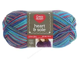 yarn & needlework: Coats & Clark Red Heart Heart & Sole Yarn 1.76 oz Sorbeto