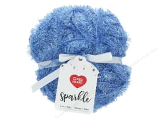 Red Heart Sparkle Yarn 185 yd. Blue Ice