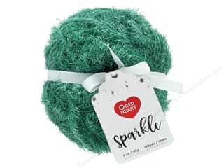 yarn & needlework: Coats & Clark Red Heart Sparkle Yarn 3 oz Holiday Green