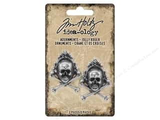 Tim Holtz Idea-ology Halloween Adornments Jolly Roger