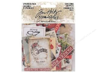 die cuts: Tim Holtz Idea-ology Christmas Ephemera Snippets