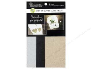 Fabric Expressions Iron On Sheet Glitter Basic 3 pc