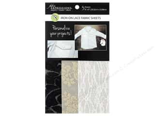 Fabric Expressions Iron On Sheet Lace 3 pc