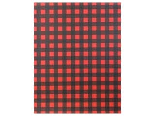 scrapbooking & paper crafts: American Crafts Collection Poster Shop Poster Board Plaid Red