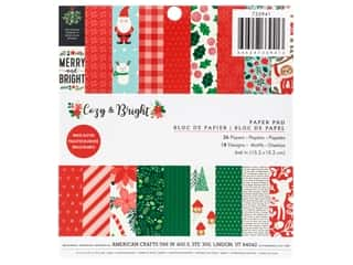 Pebbles Collection Cozy & Bright Paper Pad 6 in. x 6 in. Glitter White