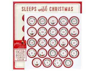 Chipboard wreath: Pebbles Cozy & Bright Collection Paper 12 in. x 12 in. Advent Calendar