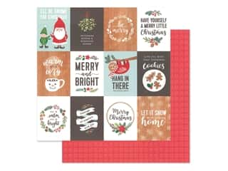 Clearance: Pebbles Cozy & Bright Collection Paper 12 in. x 12 in. Merry Little Christmas (25 pieces)