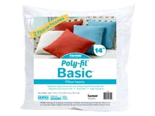 Fairfield Pillow Form Basic Insert 14 in. x 14 in. 2 pc