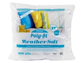"Fairfield Weather Soft Poly Fil Pillow Insert 27""x 27"""