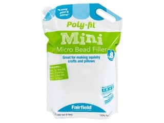 Fairfield Filler Poly Fil Mini Micro Beads .28 cubic feet