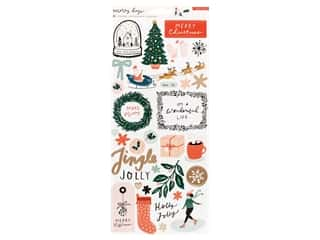 stickers: Crate Paper Collection Merry Days Sticker 6 in. x 12 in.