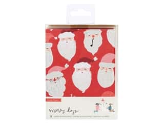 Crate Paper Collection Merry Days Card Set Gold/White