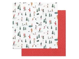 Crate Paper Collection Merry Days Paper 12 in. x 12 in. Frosty Day (25 pieces)