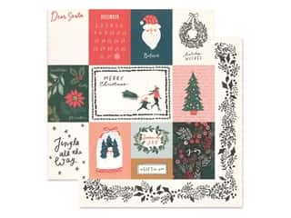 Crate Paper Collection Merry Days Paper 12 in. x 12 in. Sleigh Ride (25 pieces)