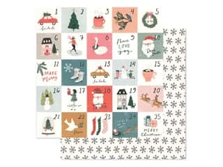 scrapbooking & paper crafts: Crate Paper Collection Merry Days Paper 12 in. x 12 in. Stockings (25 pieces)
