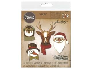 Sizzix Tim Holtz Thinlits Die Set 24 pc. Cool Yule