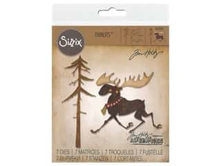 Sizzix Tim Holtz Thinlits Die Set 7 pc. Merry Moose