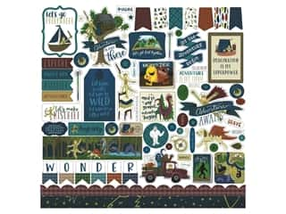 Clearance: Echo Park Collection Adventure Awaits Sticker 12 in. x 12 in. Elements (15 pieces)