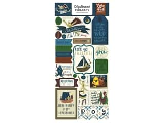 Clearance: Echo Park Collection Adventure Awaits Chipboard 6 in. x 12 in. Phrases