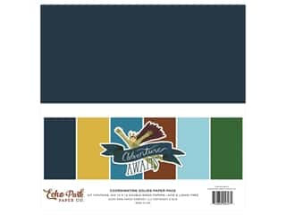 "scrapbooking & paper crafts: Echo Park Collection Adventure Awaits Solids Kit 12""x 12"""