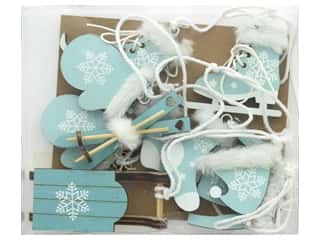 twine: Sierra Pacific Crafts Decor Wood Ornaments Cut Out 6pc