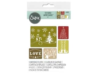Clearance: Sizzix TI Embossing Folders 5PK Sending Christmas Love by Rachel Bright