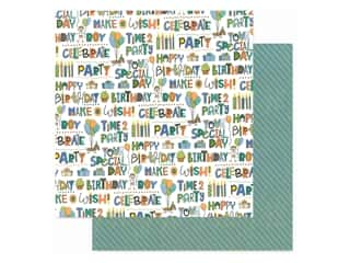 scrapbooking & paper crafts: Photo Play 12 x 12 in. Paper Birthday Wishes Boy Time To Party (25 pieces)