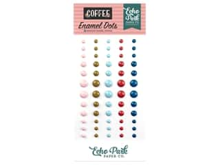 Echo Park Collection Coffee Enamel Dots