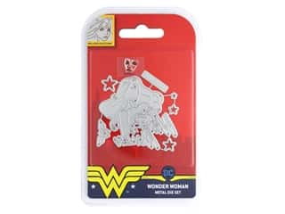 scrapbooking & paper crafts: Character World Die/Stamp DC Comics Wonder Woman Face