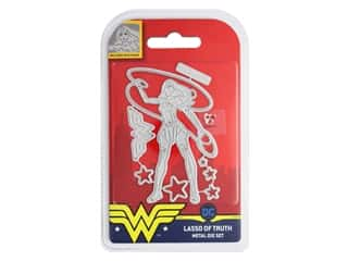 scrapbooking & paper crafts: Character World Die/Stamp DC Comics Wonder Woman Lasso Of Truth