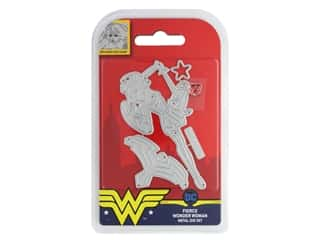 scrapbooking & paper crafts: Character World Die/Stamp DC Comics Wonder Woman Fierce