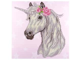 beading & jewelry making supplies: Diamond Art Kit 12 x 12 in. Unicorn