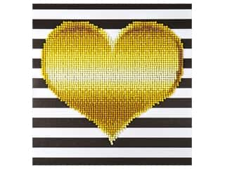 craft & hobbies: Diamond Art Kit 8 x 8 in. Heart