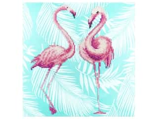 Diamond Art Kit 12 x 12 in. Flamingo Duo