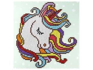 craft & hobbies: Diamond Art Beginner Kit 8 x 8 in. Fun Unicorn