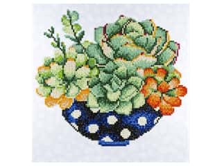 craft & hobbies: Diamond Art Kit 12 x 12 in. Succulent Bowl