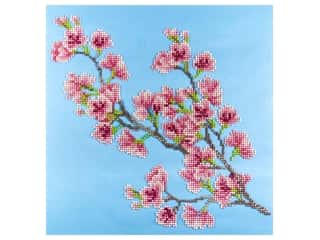 beading & jewelry making supplies: Diamond Art Kit 12 x 12 in. Cherry Blossom