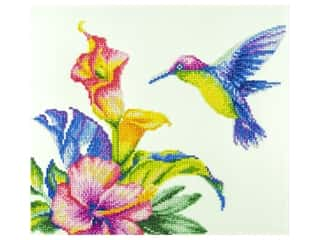 beading & jewelry making supplies: Diamond Art Kit 14 x 16 in. Hummingbird