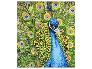 beading & jewelry making supplies: Diamond Art Kit 14 x 16 in. Peacock