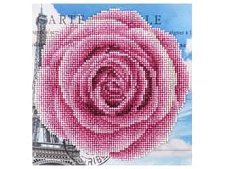 craft & hobbies: Diamond Art Beginner Kit 8 x 8 in. Rose
