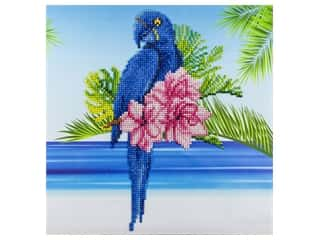 beading & jewelry making supplies: Diamond Art Kit 12 x 12 in. Blue Parrot