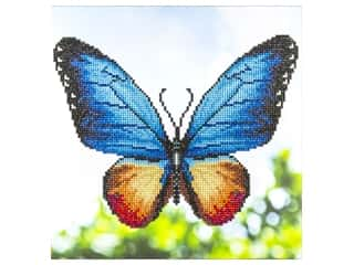 beading & jewelry making supplies: Diamond Art Kit 12 x 12 in. Butterfly
