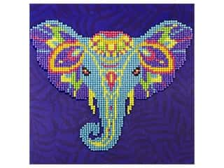 beading & jewelry making supplies: Diamond Art Kit 8 x 8 in. Elephant