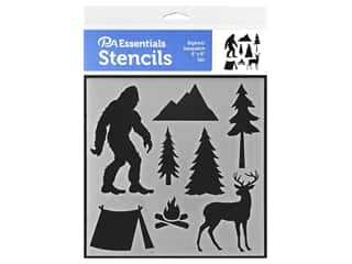craft & hobbies: PA Essentials Stencil 6 x 6 in. Bigfoot/Sasquatch