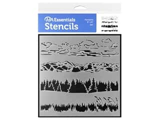craft & hobbies: PA Essentials Stencil 6 x 6 in. Horizons