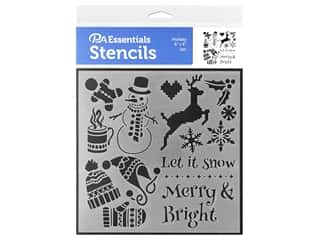 craft & hobbies: PA Essentials Stencil 6 x 6 in. Holiday