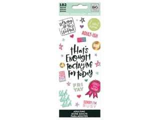 ribbon: Me&My Big Ideas Sticker Value Pack Adulting