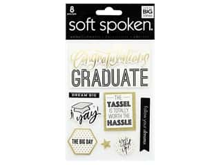 scrapbooking & paper crafts: Me&My Big Ideas Sticker Soft Spoken Graduate